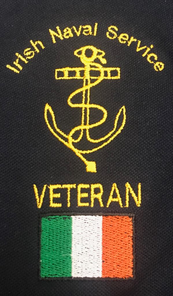 Naval Service Veteran Embroidered Logo