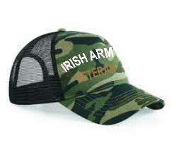 Irish Army Veteran Baseball Cap in a variety of colours