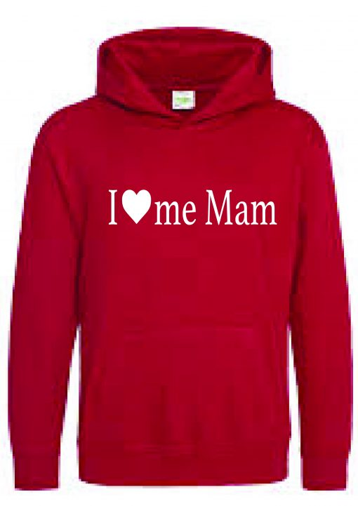 I Love Me Mam hood Red-01
